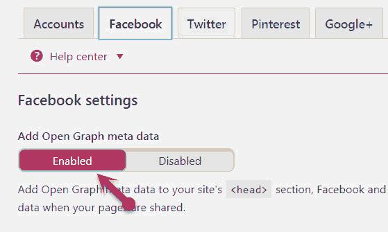 Add facebook open graph meta data