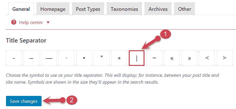 Title Separator settings
