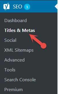 Yoast SEO Titles & Metas settings
