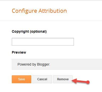 Blogger attribution widget remove kare