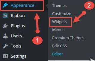 Add widget in wordpress blog