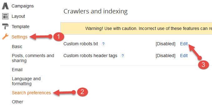 Custom robots.txt option enabel kare