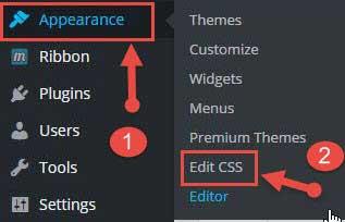 Edit CSS in wordpress blog