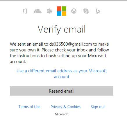 Verify email address