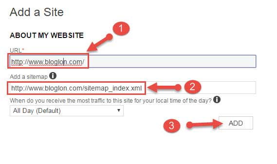 add a sitemap in bing webmaster tool