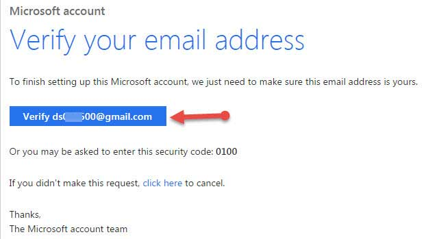 microsoft account verify kare