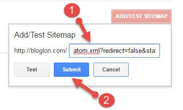 Blogger sitemap submit kare