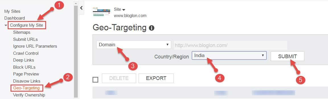 Geographic Targeting Setup