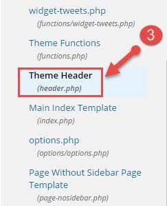 Wordpress theme header.php file