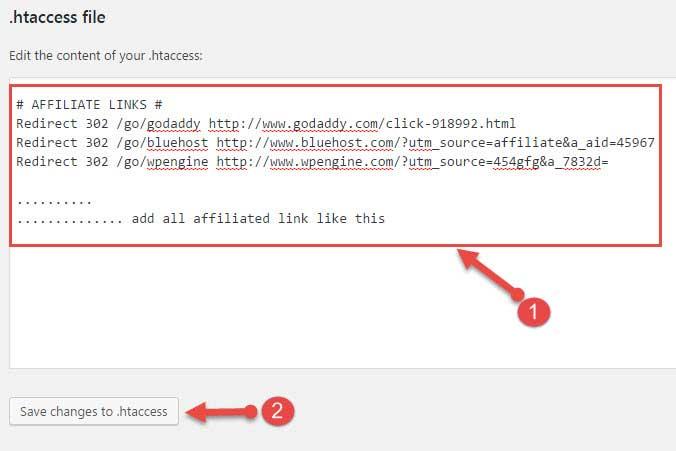 make cloak links using .htaccess