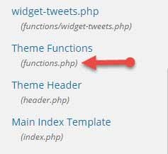 open function file in wordpress