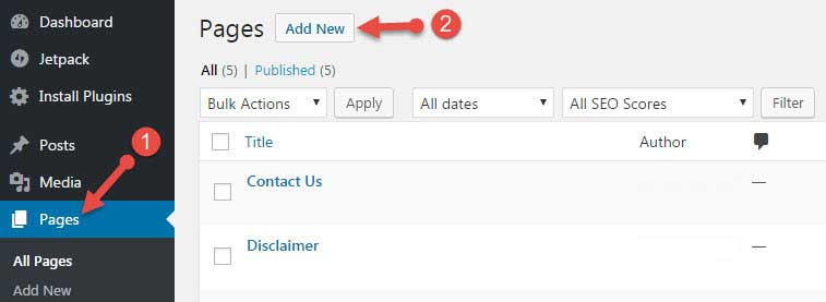 How to add privacy policy page in WordPress site