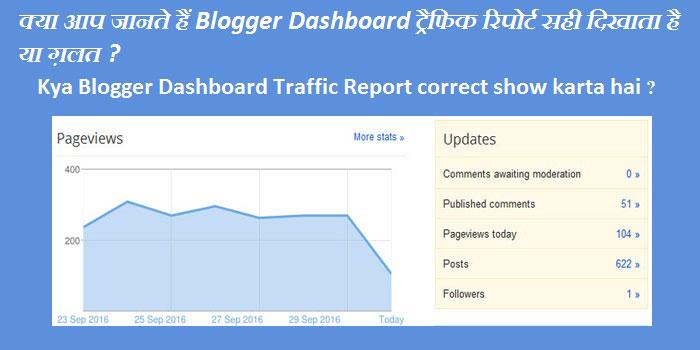 Kya Blogger Dashboard Traffic Report correct show karta hai