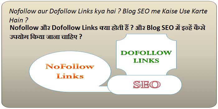 Nofollow aur Dofollow Links kya hai Aur Blog SEO me Kaise Use kare