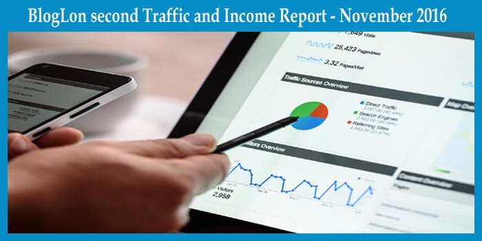 BlogLon second Traffic and Income Report - November 2016