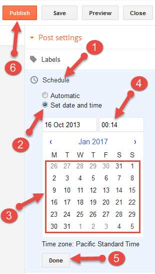Blogspot par scheduled posting kaise karte hai