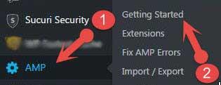 Google amp settings