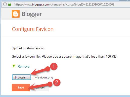 Blogspot blog me favicon kaise upload kare