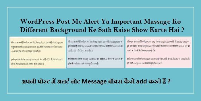 WordPress Post Me Message Box Kaise Add Karte Hai Without Plugins