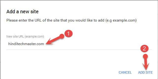 Add site in google adsense account