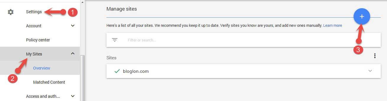Adsense Account में Site URL कैसे add करते हैं