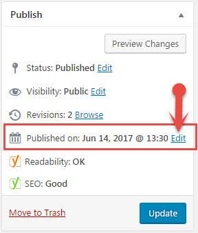 Edit Post Publish Time in WordPress