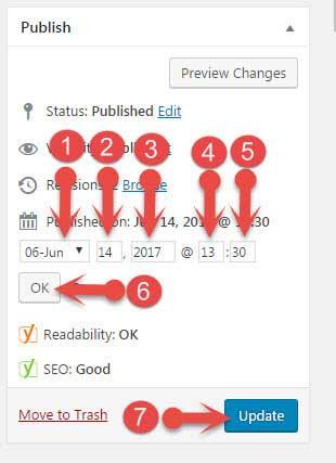 Old Post Update करके Home Page पर कैसे show करें