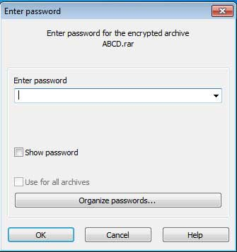 Extract password protected file