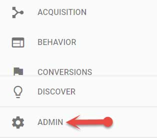 Google analytics admin settings