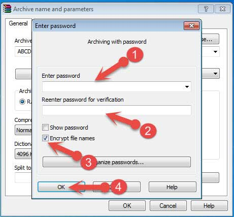 Set password on File