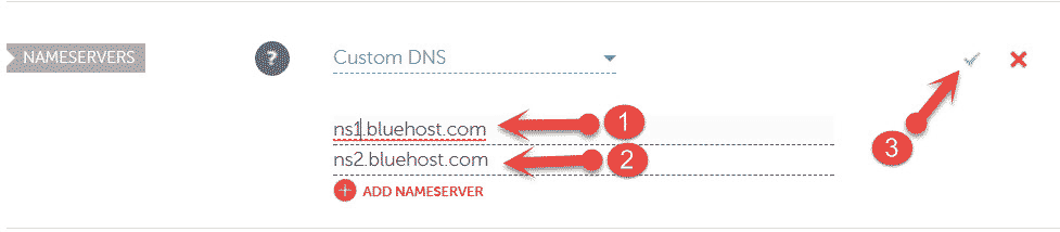 Add Hosting Nameservers in Namecheap Domain