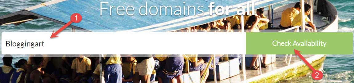 Check Availability free domain