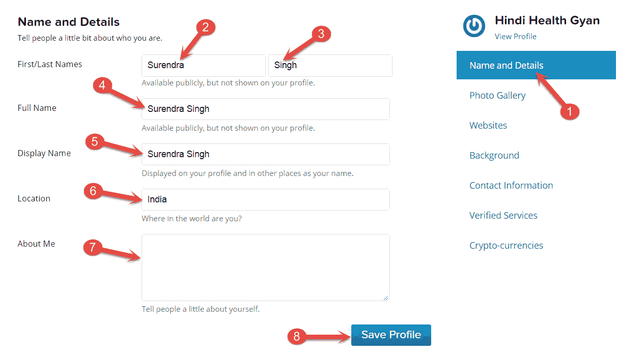 Gravatar Profile Settings kaise kare