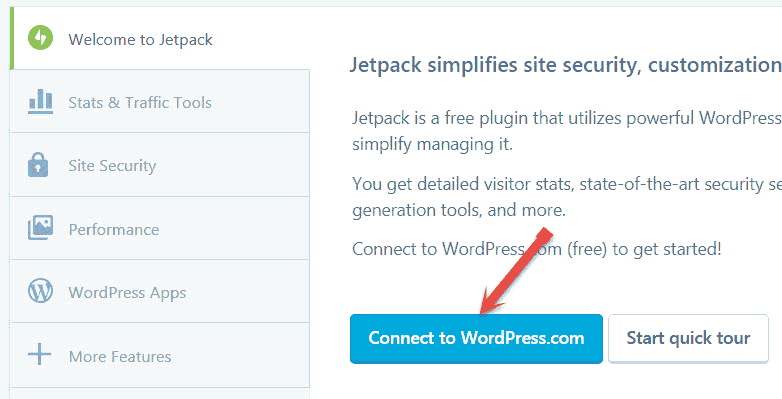 Jetpack Connect to WordPress.com