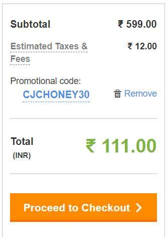 Honey extension use karke total amount kam kare