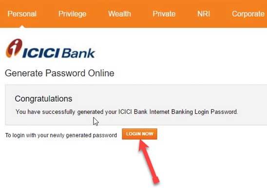 icici net banking login
