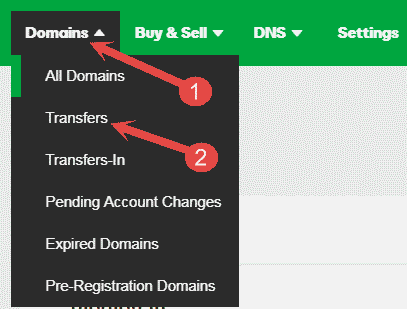 Domains Transfers