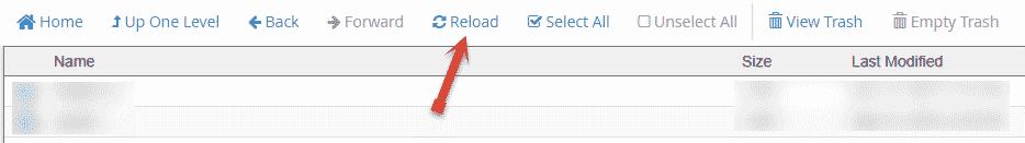 Reload Public html folder