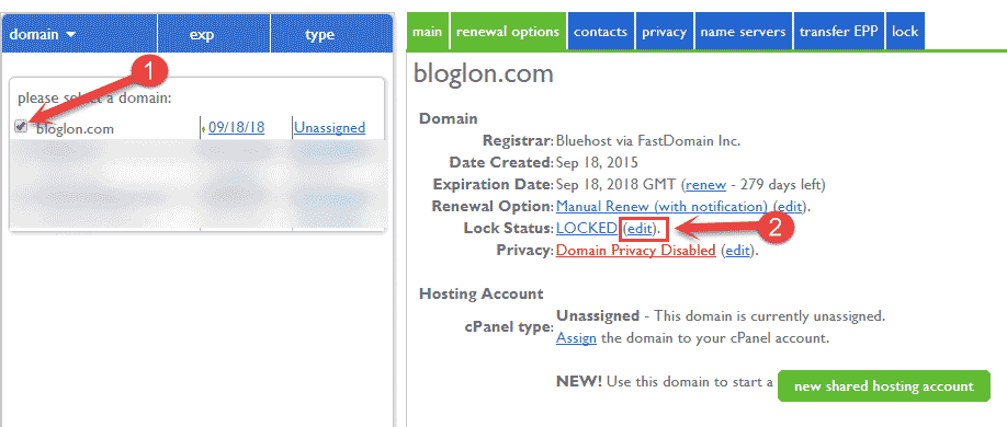 Unlocked Domain