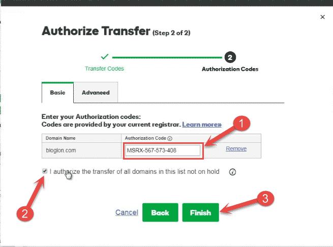 domain transfer codes