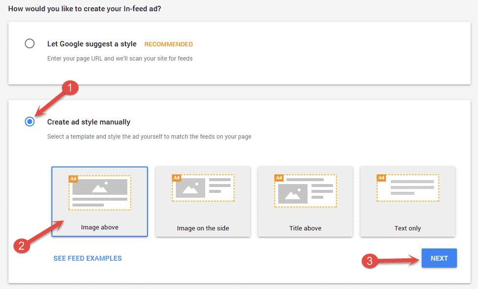 Create ad style manually