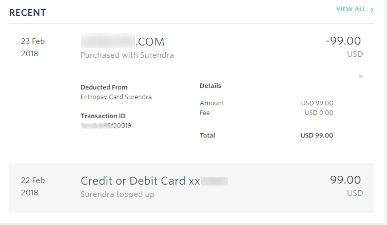 Virtual credit card online shopping proof