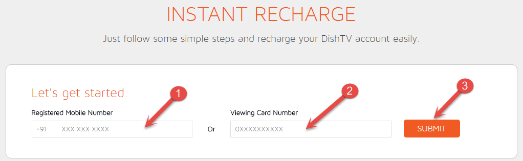 Enter Dish tv VC number
