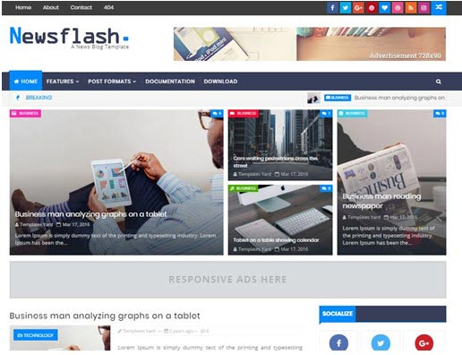 NewsFlash Blogger Theme