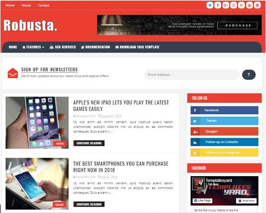 Robusta Blogger Theme