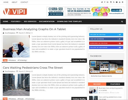 ViPi Blogger Theme